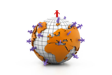 Global business network.