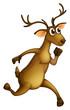 A deer running