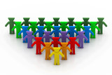Social network concept. (group of people)