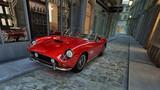 roter italienischer Sportwagen in einer engen Gasse - 52466177