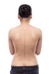 Indian Woman's back