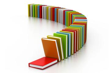 Colourful books.