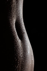Tempting silhouette of navel of indian female