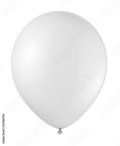 white balloon soaring on a white background