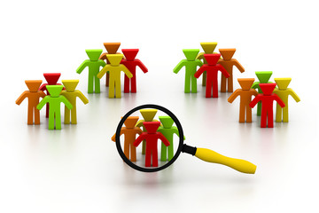 Concept of searching people or employee.