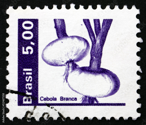 Postage stamp Brazil 1982 Onion, Allium Cepa, Vegetable
