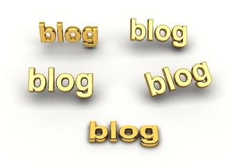 scritta blog in varie prospettive