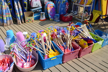 Toys for sale at a beach shop