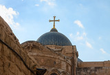 Dome on Church of the Holy Sepulchre in Jerusalem
