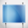 Blank metal information board template