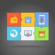 Web color tile interface template