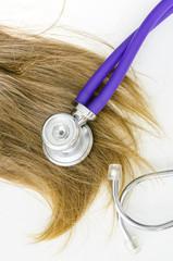 Damaged female hair