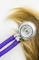 Stethoscope on hair