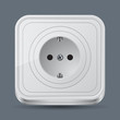 Electric outlet vector icon