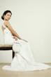 Bride with white wedding wallet