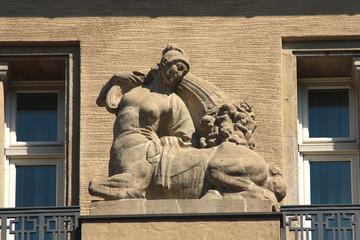 Leipzig, Fassade am Naschmarkt