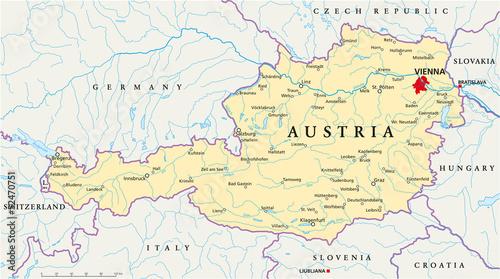 Austria Map ( Österreich Landkarte )