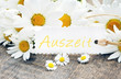"canvas print picture - Margeriten mit Schild ""Auszeit"""