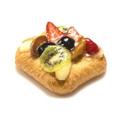 Blätterteig -Fruchttasche mit frischen Früchten