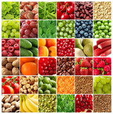 Fototapety fruits and vegetables backgrounds
