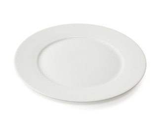 Ceramic plate over white background