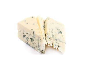 Danablue danish blue cheese isolated