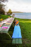 picnic by lake