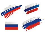 Brush Flags Russia