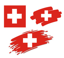 Brush Flags Switzerland