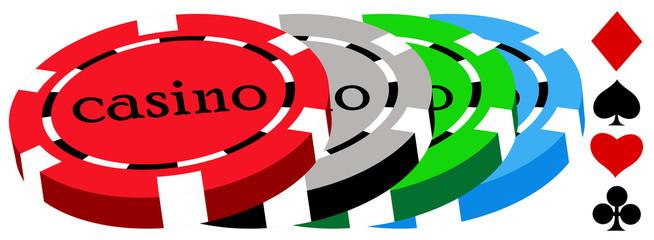 casino chips on white background. eps10 vector
