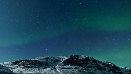 Northern lights (Aurora borealis) timelapse
