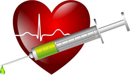 Herz Kreislauf Spritze