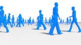 Anonynous Crowd all blue male characters poster