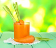 Glass of carrot juice,