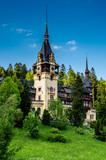 Side view of Peles castle poster