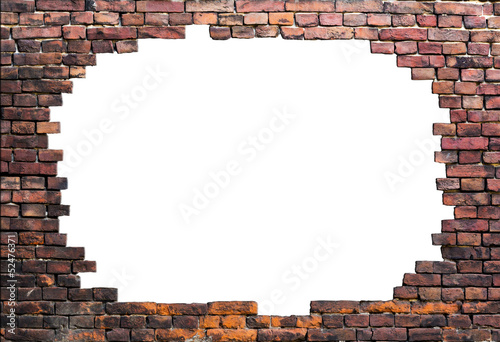 Deurstickers Rudnes Old brick wall