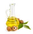 Walnut oil in a glass jug.