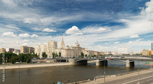 View of Moscow. Borodinsky bridge.