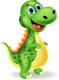 Fototapety Cute dinosaur cartoon