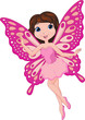 Illustration of cute fairy cartoon