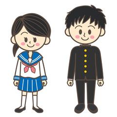 セーラー服と学ランの学生
