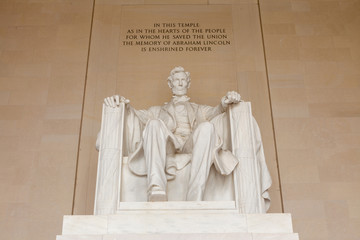 Abraham Lincoln monument in Washington, DC