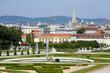 Gardens at the Baroque castle Belvedere in Vienna, Austria