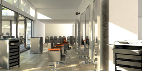 Hairstylist makeup Saloon Parrucchiere Pettinatura 3d 3d