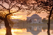 Jefferson Memorial at dawn by Tidal Basin, DC