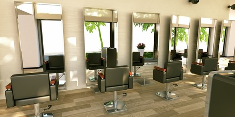 Hairstylist makeup Saloon Parrucchiere Pettinatura 3d