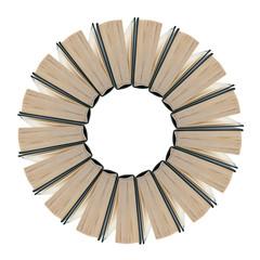 insieme di libri a forma di fiore