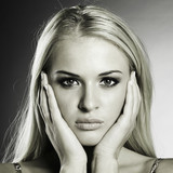 Portrait of beautiful blond woman