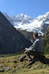 Mobiltechnik und Berge