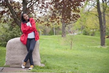 teenage girl in outdoors